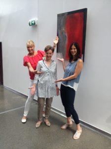 Brigitte Wohlmuth (Kunst&Galerie), Doris Kaltenegger (Künstlerin), Bettina Weiß (Krone Center)